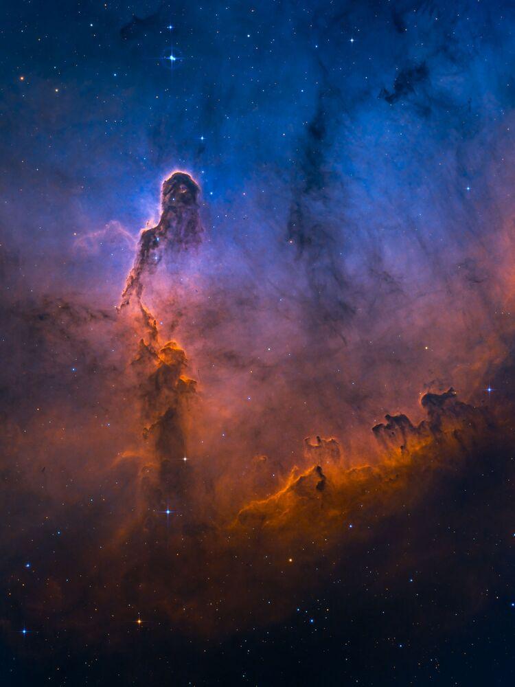 Snímek The Misty Elephant's Trunk amerického fotografa Min Xie, vysoce ceněné v kategorii STARS AND NEBULAE soutěže Insight Investment Astronomy Photographer of the Year 2020