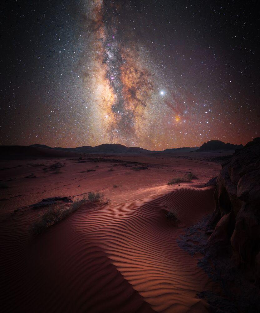 Snímek Desert Magic německého fotografa Stefana Leibermanna, který získal druhé místo v kategorii SKYSCAPES soutěže Insight Investment Astronomy Photographer of the Year 2020