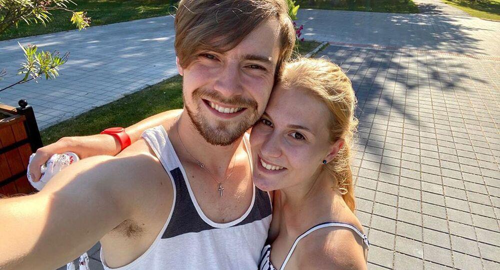 Dominik Vodička s manželkou Eliškou