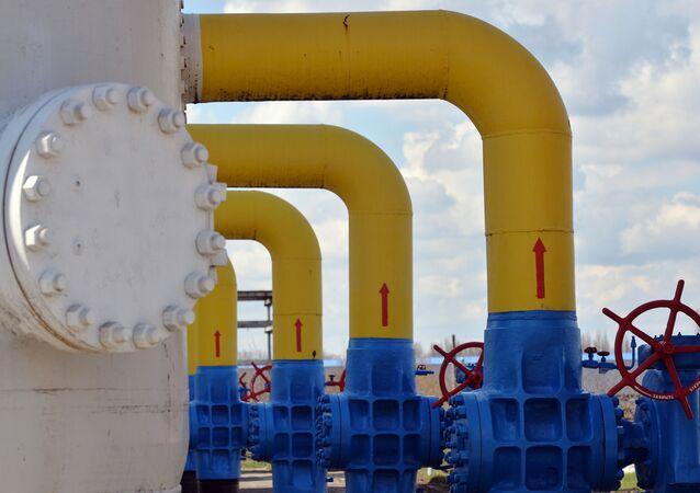 Plynovod na Ukrajině. Ilustrační foto