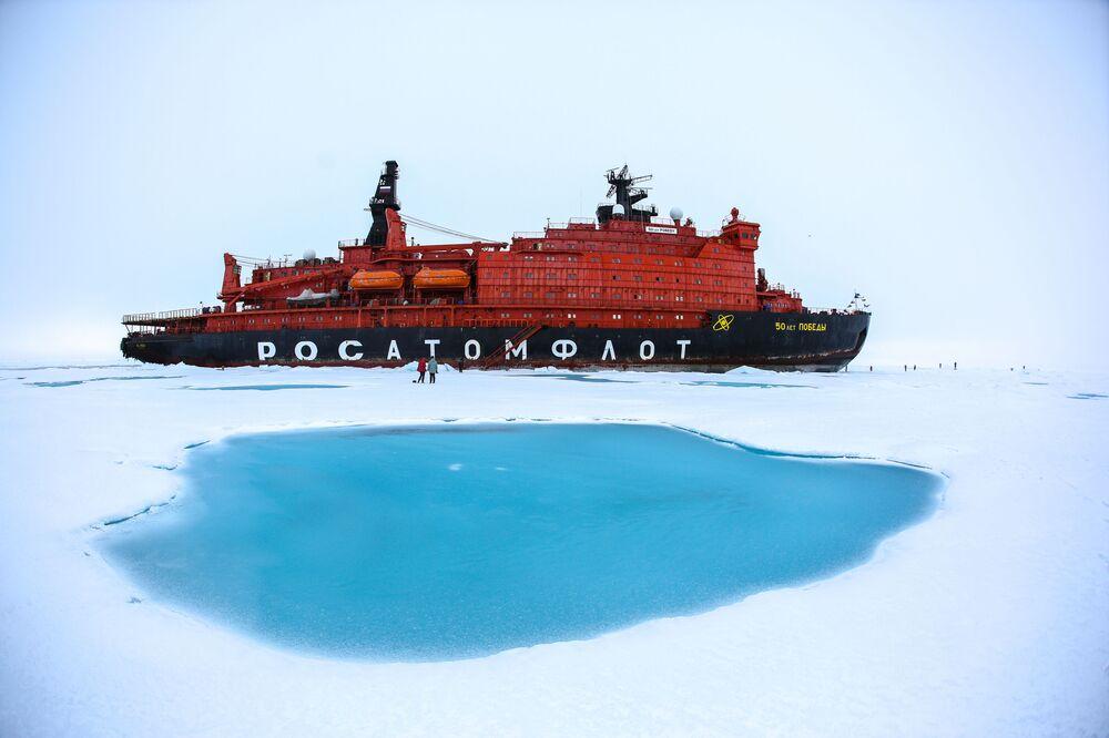 Atomový ledoborec 50 let vítězství na severním pólu