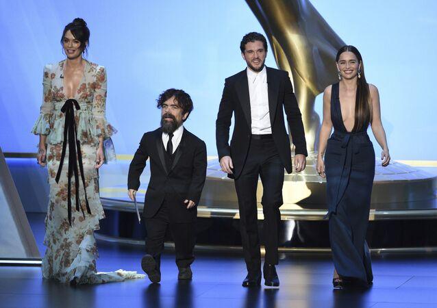 Hvězdy seriálu Hra o trůny na předávání cen Emmy