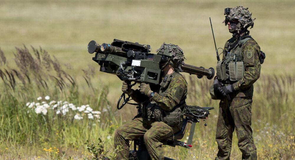 Litevští vojáci během vojenského cvičení NATO NATO Tobruq Legacy 2017