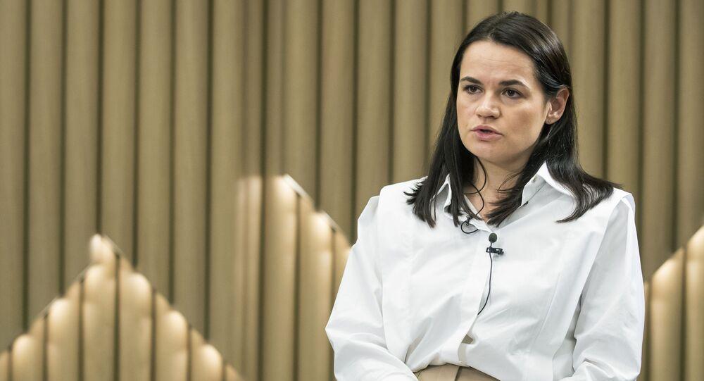 Bývalá kandidátka na úřad běloruského prezidenta Světlana Tichanovská v Litvě