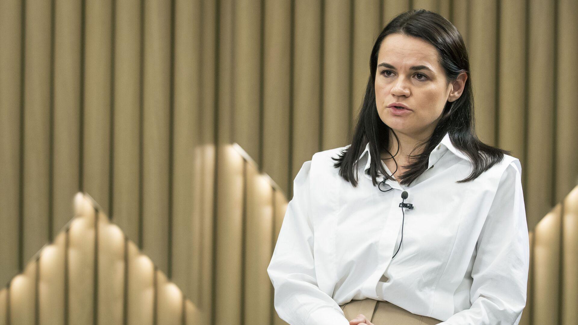 Bývalá kandidátka na úřad běloruského prezidenta Světlana Tichanovská v Litvě - Sputnik Česká republika, 1920, 06.06.2021