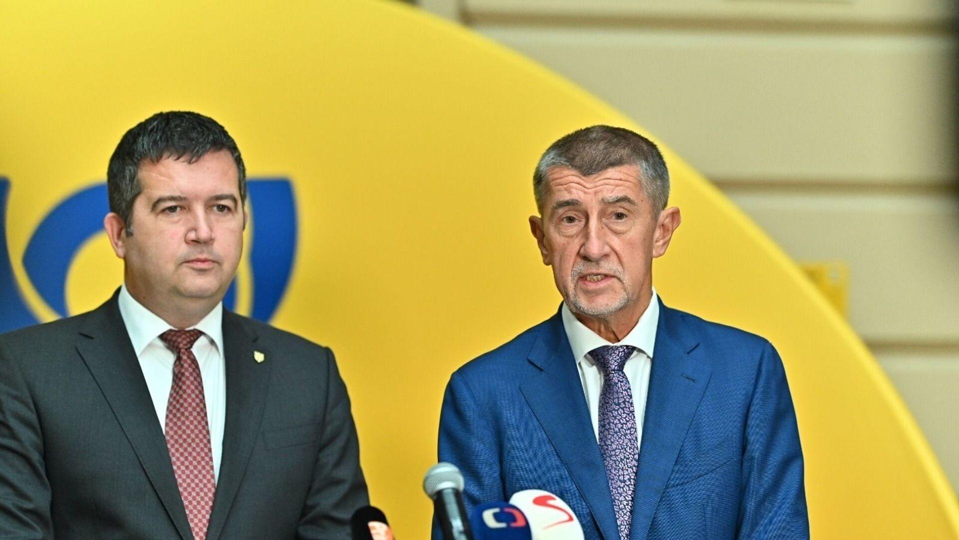Jan Hamáček a Andrej Babiš - Sputnik Česká republika, 1920, 05.03.2021