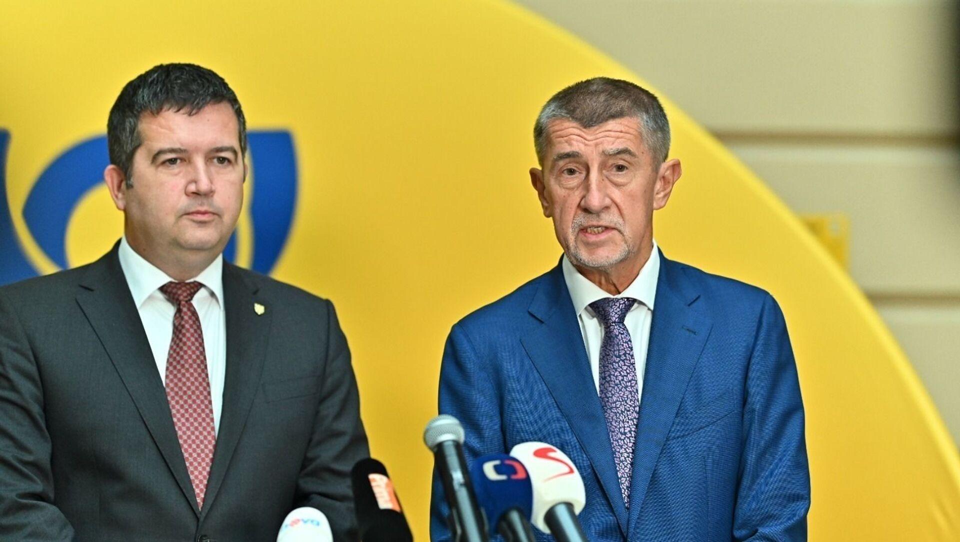 Jan Hamáček a Andrej Babiš - Sputnik Česká republika, 1920, 26.02.2021