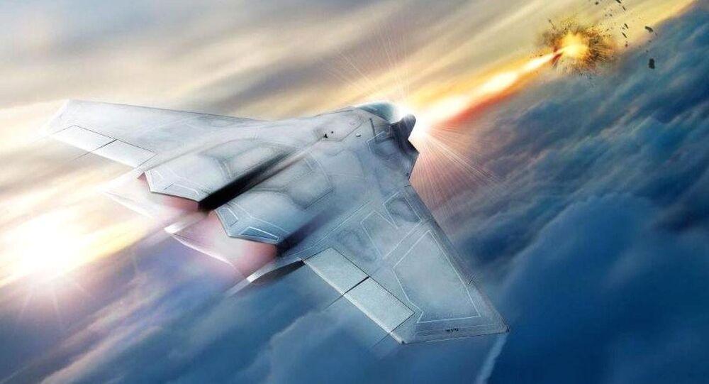 Koncept stíhačky vybavené laserovými zbraněmi