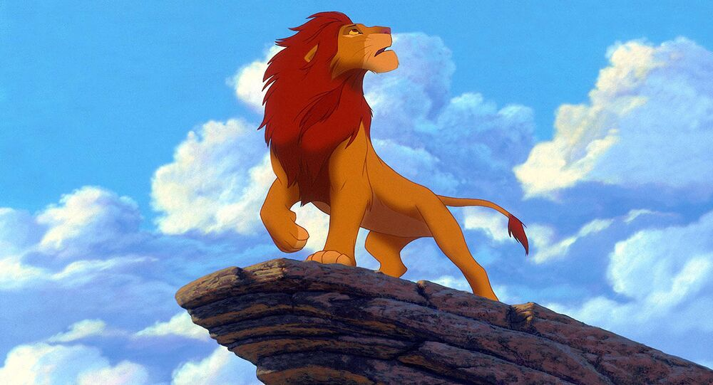 Snímek z animovaného filmu Lví král