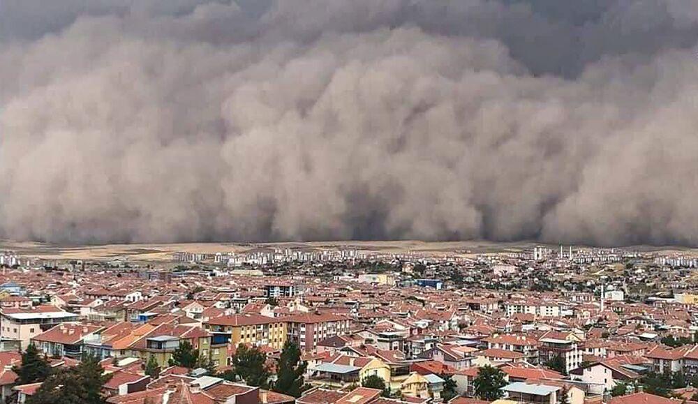 Písečná bouře v Turecku