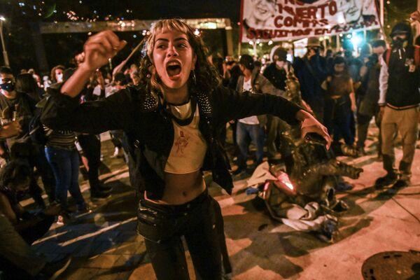 Protestní akce proti policii v Kolumbii - Sputnik Česká republika