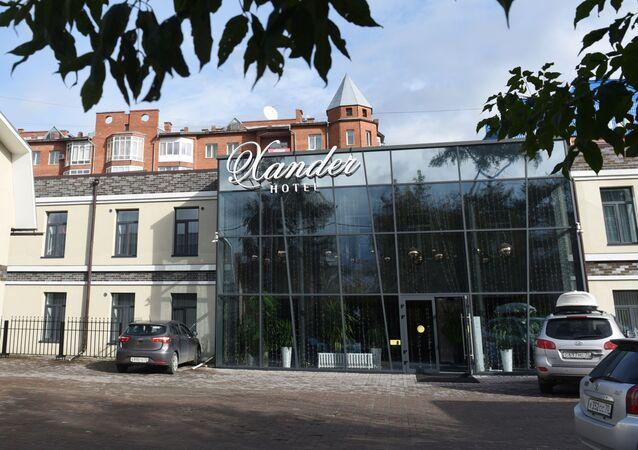 Xander Hotel v Tomsku, kde byl ubytován Alexej Navalnyj