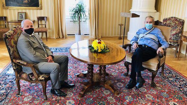 Prezident Miloš Zeman a Roman Prymula - Sputnik Česká republika