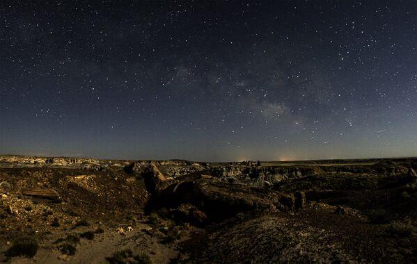 Hvězdná obloha nad parkem Petrified Forest v Arizoně - Sputnik Česká republika