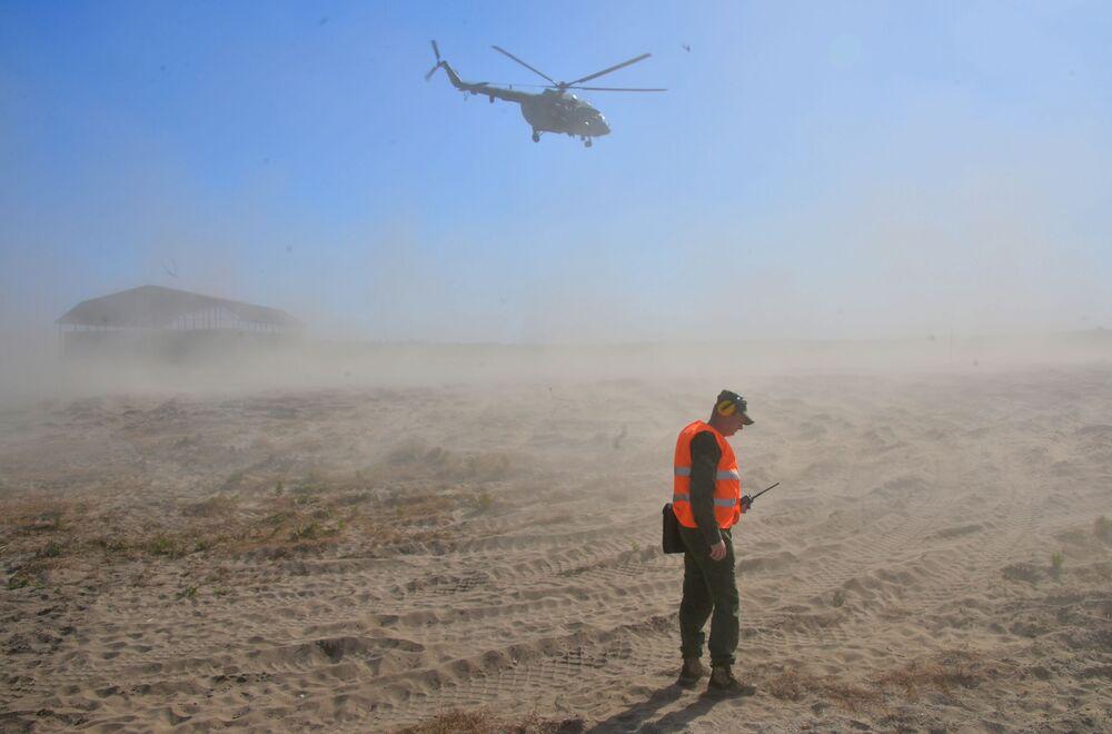 Vrtulník Mi-8 během cvičení Slovanské bratrství 2020