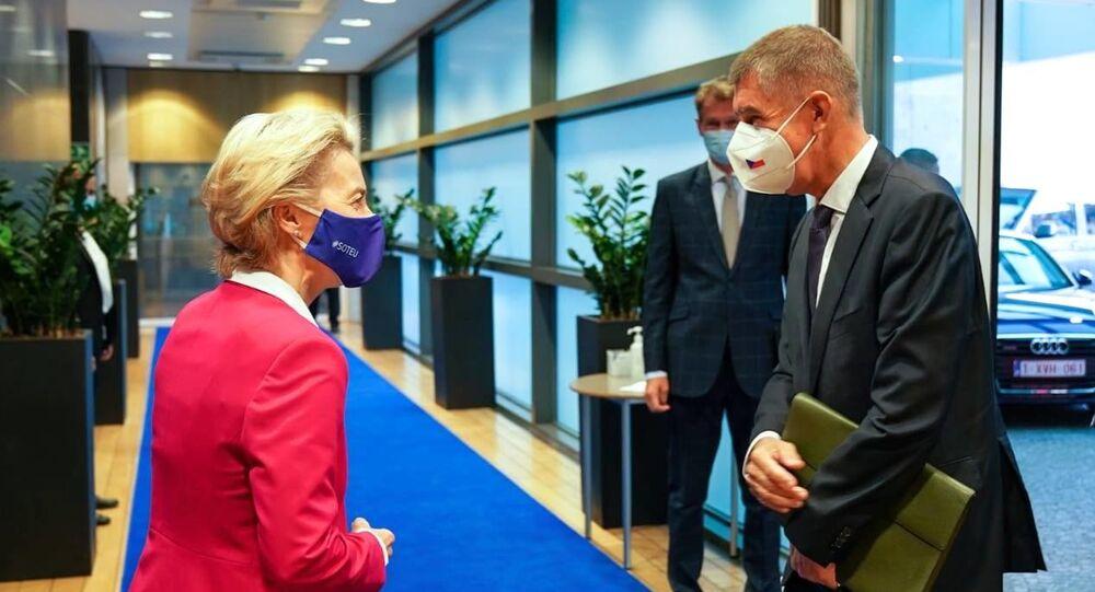 Andrej Babiš s předsedkyní Evropské komise Ursulou von der Leyenovou