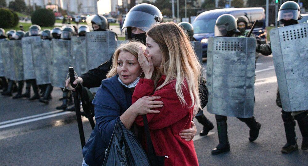 Protestní akce v Minsku. Ilustrační foto.