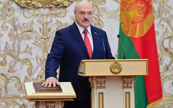 Inaugurace běloruského prezidenta Alexandra Lukašenka v Minsku - Sputnik Česká republika