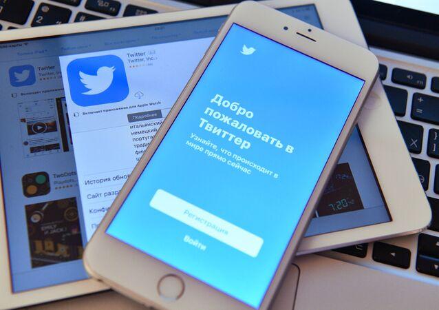 Stránka sociální sítě Twitter