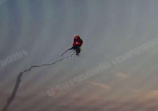 Zničení ázerbájdžánského vrtulníku v Náhorním Karabachu