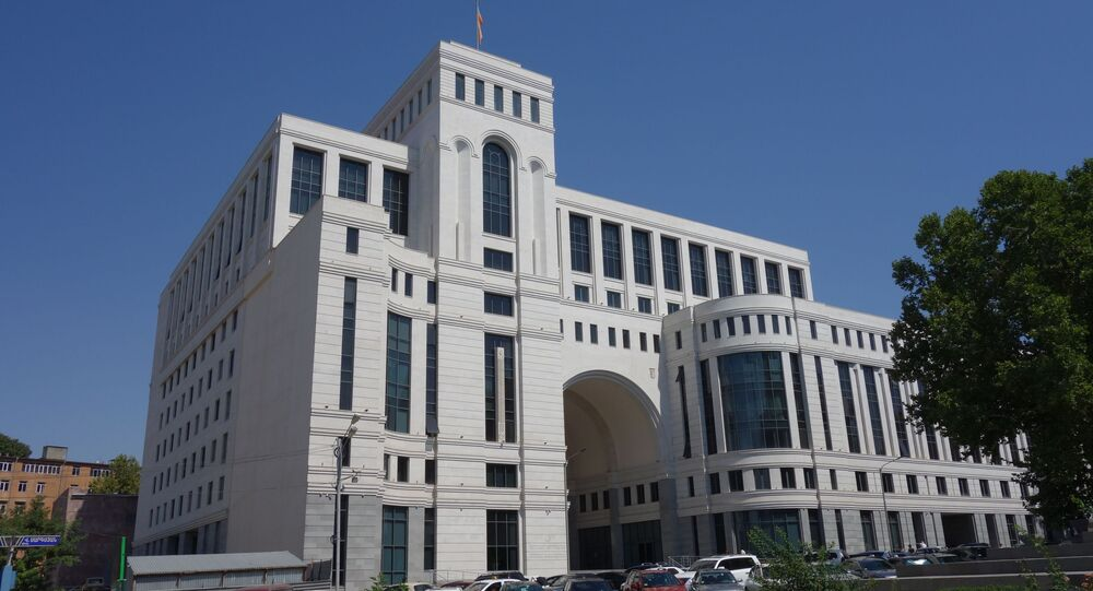 Budova ministerstva zahraničí v Jerevanu