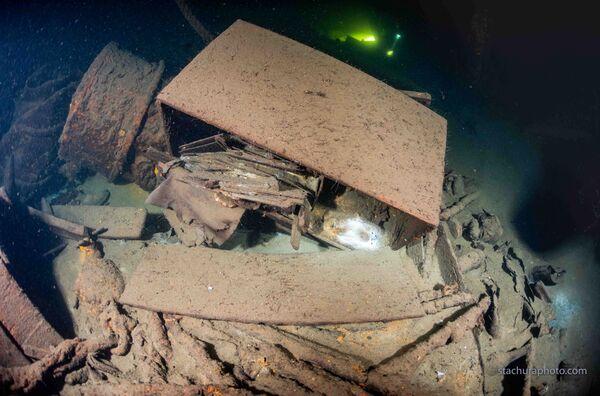 Trosky nacistické lodě objevené polskými potápěči během pátrací operace v Baltském moři - Sputnik Česká republika