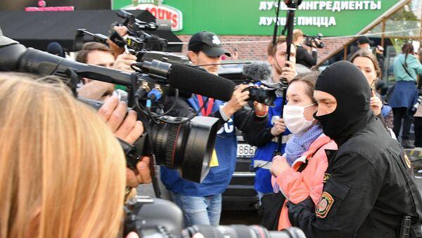 Zatýkání na ženském pochodu v Minsku (ilustrační foto) - Sputnik Česká republika