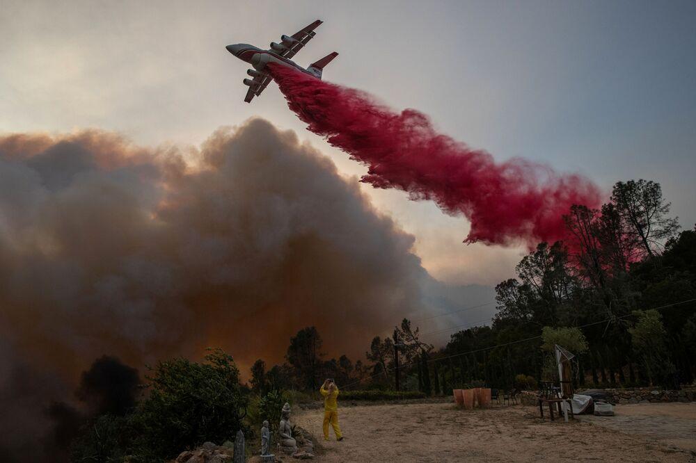 Hašení požáru v Kalifornii