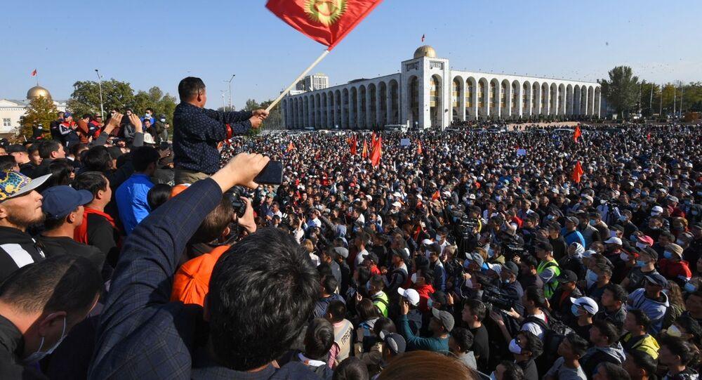 Protestní akce v Biškeku