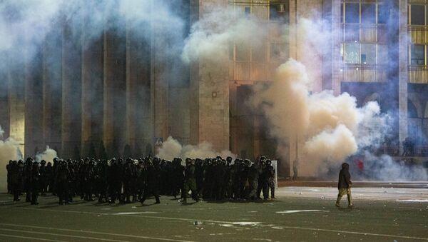 Protesty po parlamentních volbách v Biškeku - Sputnik Česká republika