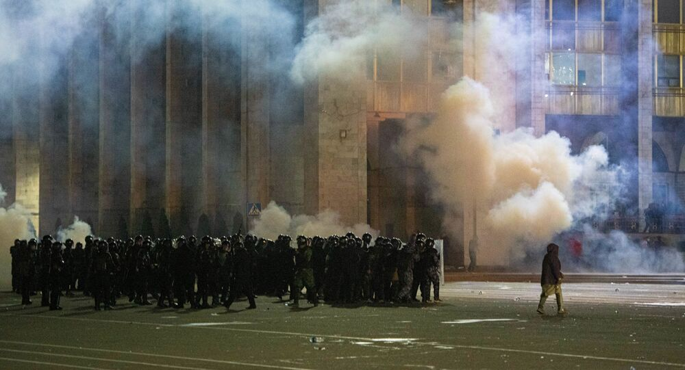 Protesty po parlamentních volbách v Biškeku