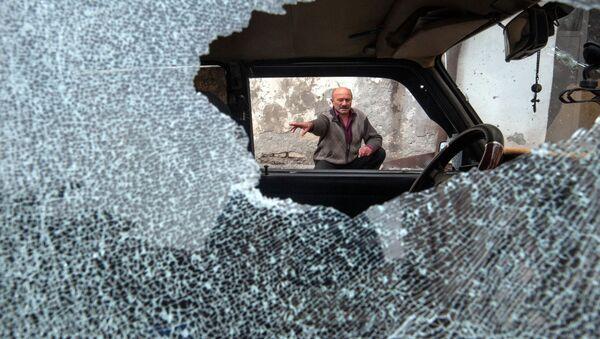 Následky ostřelování v Náhorním Karabachu - Sputnik Česká republika