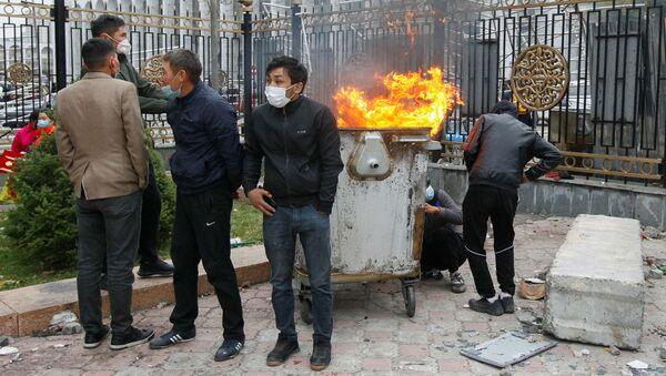 Protesty v Biškeku - Sputnik Česká republika