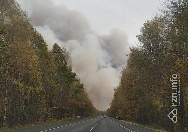 V Rjazaňské oblasti došlo k požáru skladu zbraní