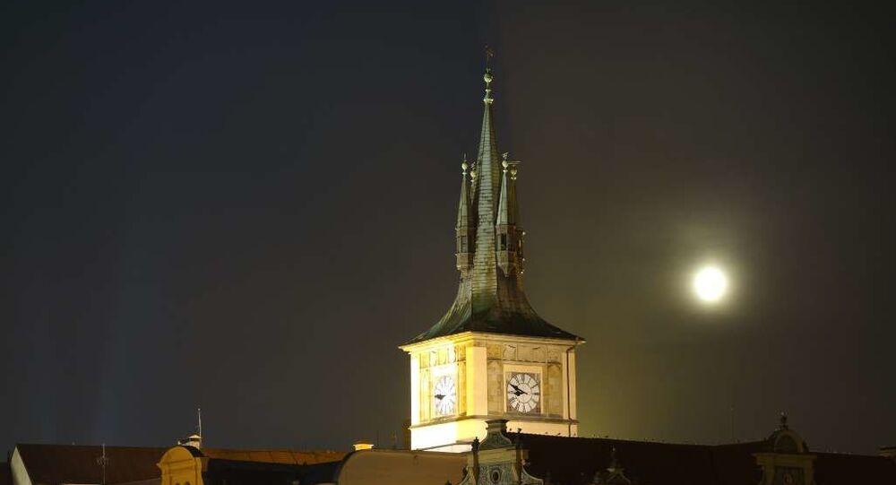 Noční Praha. Ilustrační foto