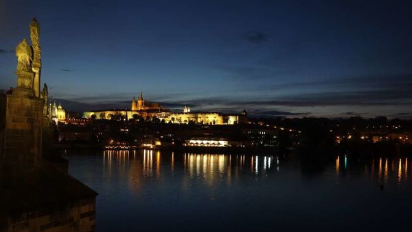 Výhled na večerní Pražský hrad. Ilustrační foto - Sputnik Česká republika