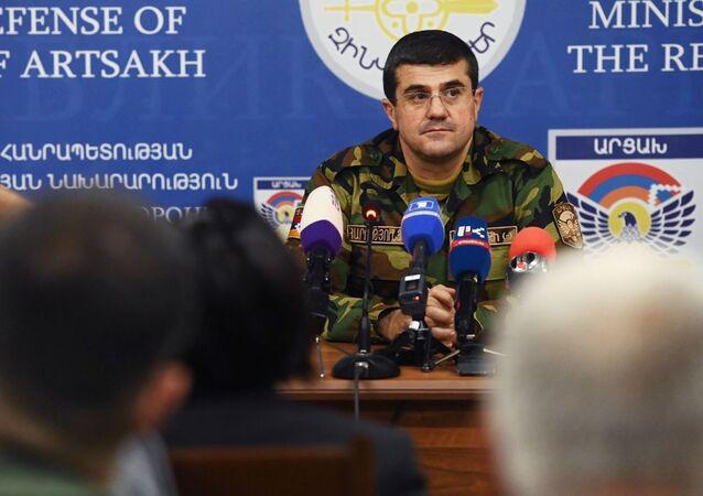 Prezident neuznané republiky Náhorní Karabach Araik Aruťuňan
