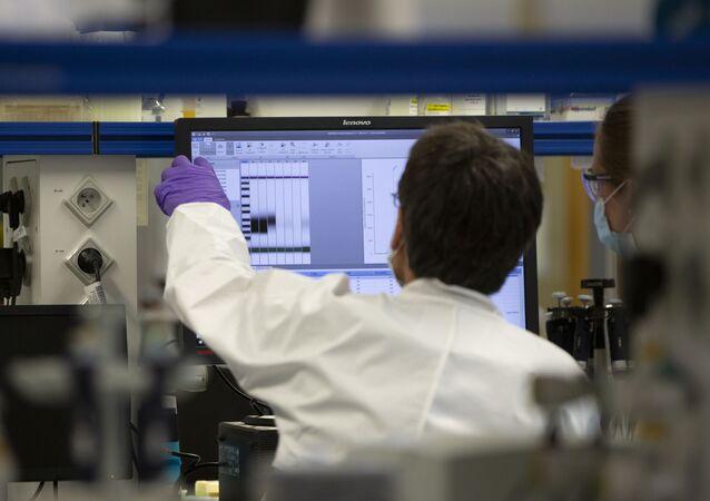 Laboratoř společnosti Johnson & Johnson v Belgii