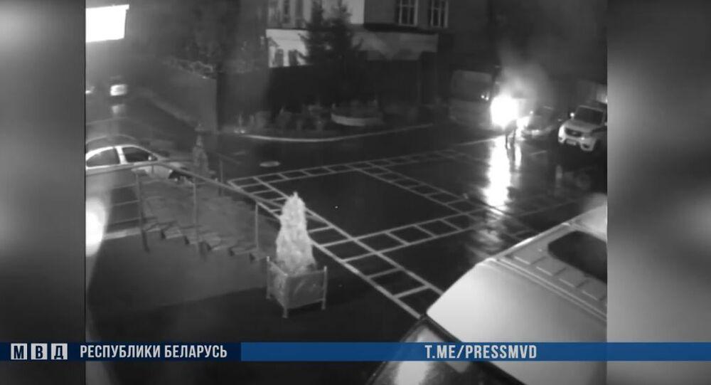 Útok na oddělení policie v Minsku