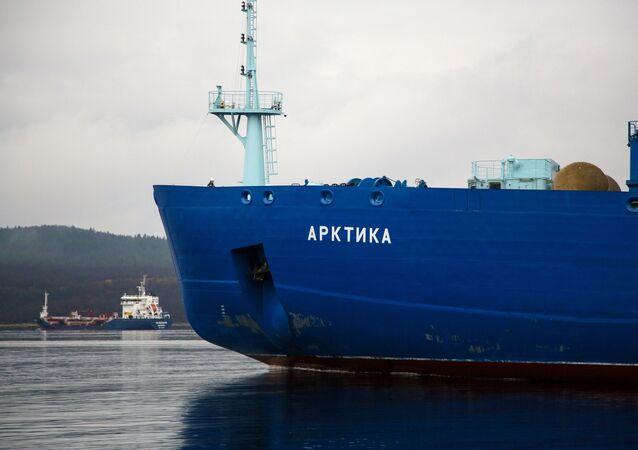 Ledoborec Arktika v Murmansku. Ilustrační foto