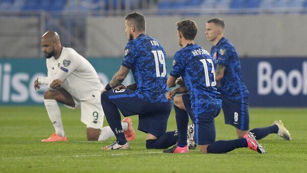 Slovenští fotbalisté před zápasem s Irskem - Sputnik Česká republika
