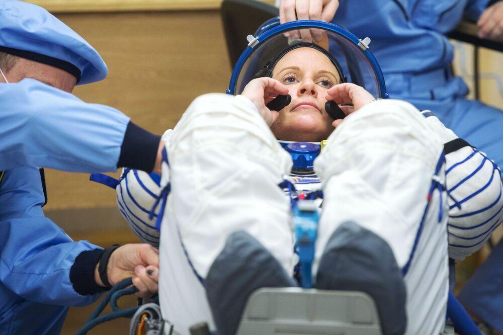 Členka hlavní posádky 64. expedice na ISS, astronautka NASA Kathleen Rubins.