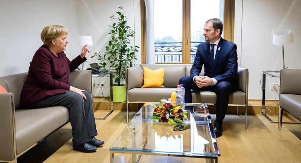 Angela Merkelová a Igor Matovič