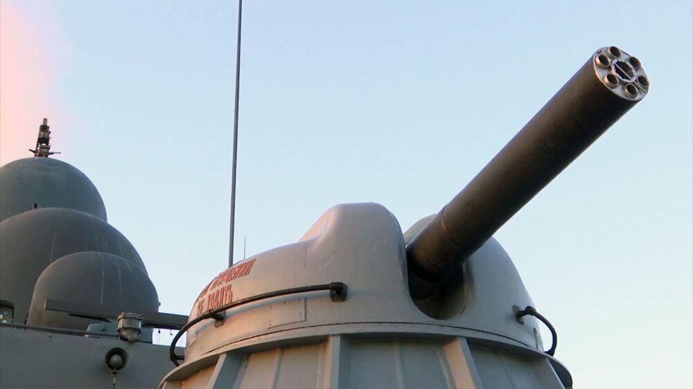 Šestihlavňový protiletadlový automatický kulomet lodi Dagestán