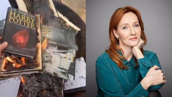 """Fanoušci a herci Harry Pottera obviňují Joanne Rowlingovou z transfobie za slovo """"žena"""" - Sputnik Česká republika"""