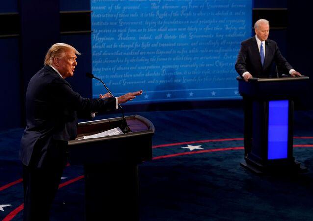 Poslední debaty Donalda Trumpa a Joe Bidena před prezidentskými volbami v USA