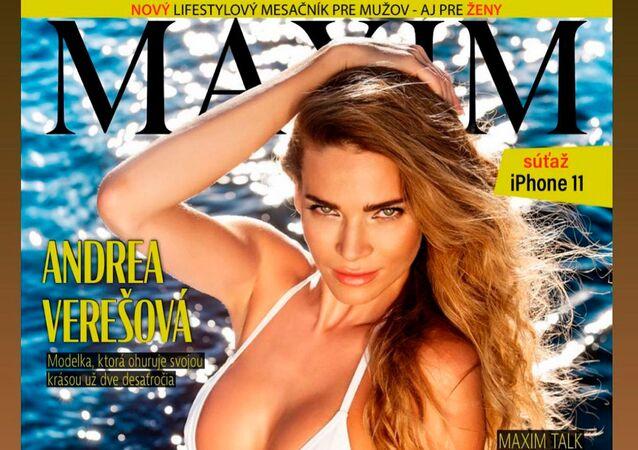 Andrea Verešová na titulní stránce Maximu