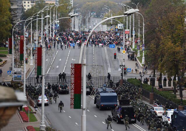 Protestní akce v Minsku. 25. října 2020