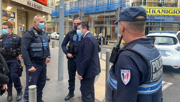 Policisté v Nice, kde útočník uřízl hlavu své oběti (29. 10. 2020) - Sputnik Česká republika