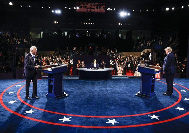 Kandidáti na amerického prezidenta Joe Biden a Donald Trump.